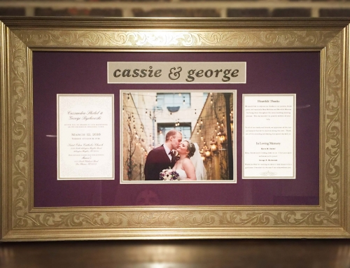 Custom Framing for a Special Day